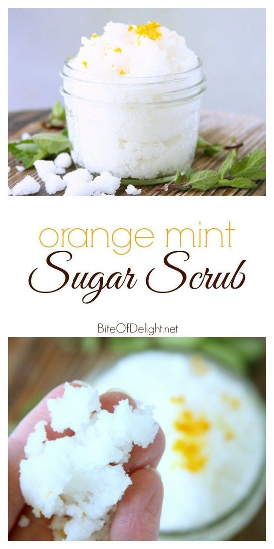 24 DIY Orange Mint Sugar Scrub