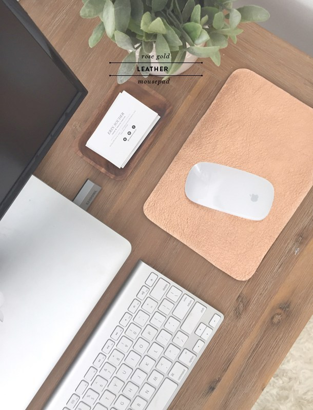 25 DIY Rose Gold Leather Mousepad