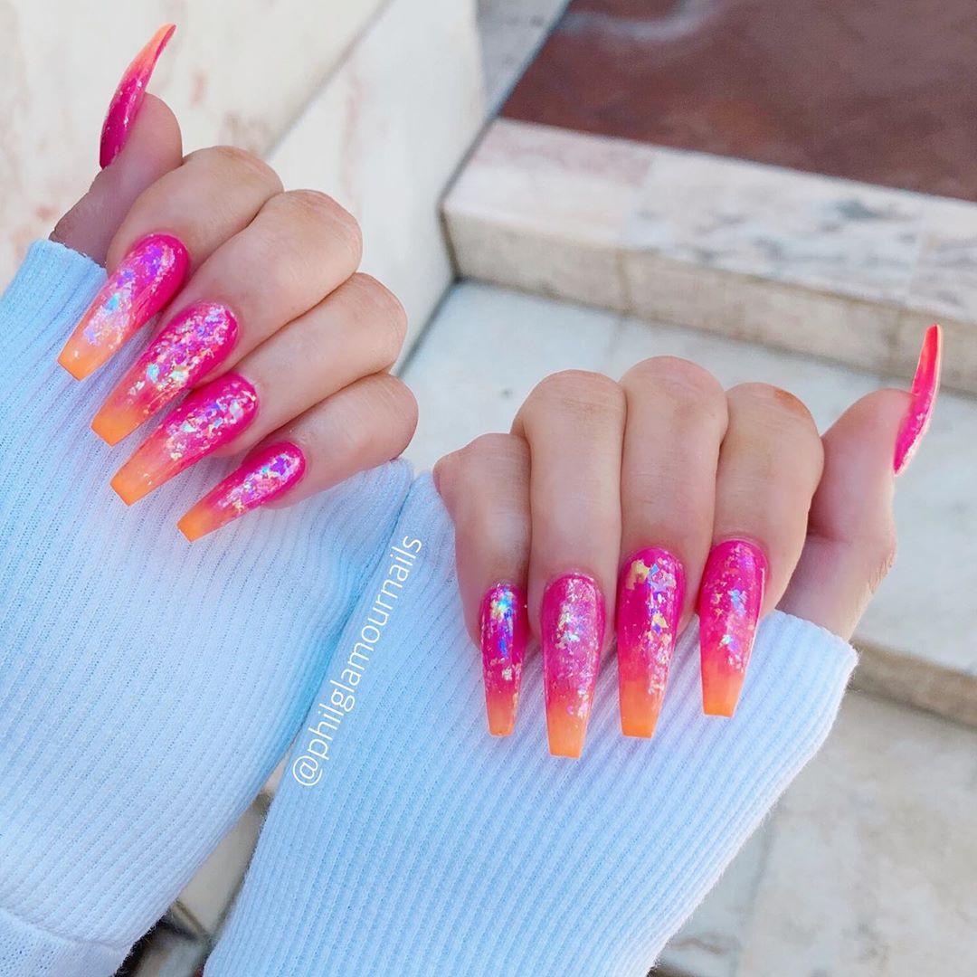 27 Pink Coffin Nail Designs