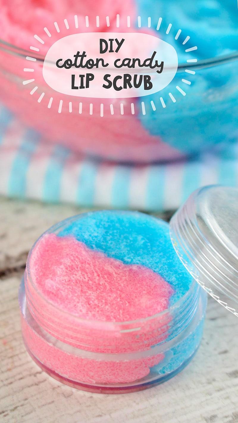 28 DIY Cotton Candy Sugar Lip Scrub