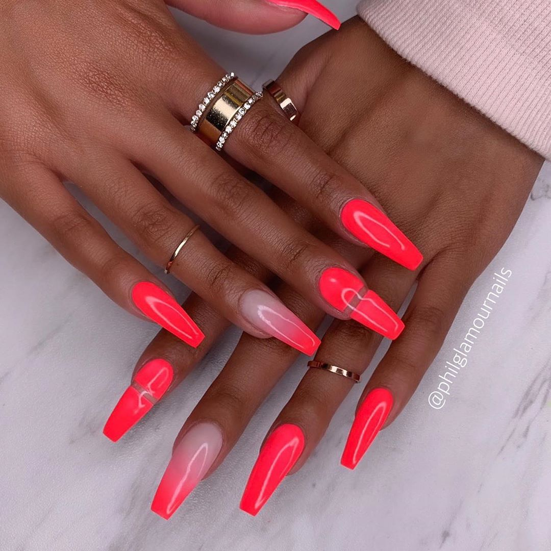 28 Pink Coffin Nail Designs