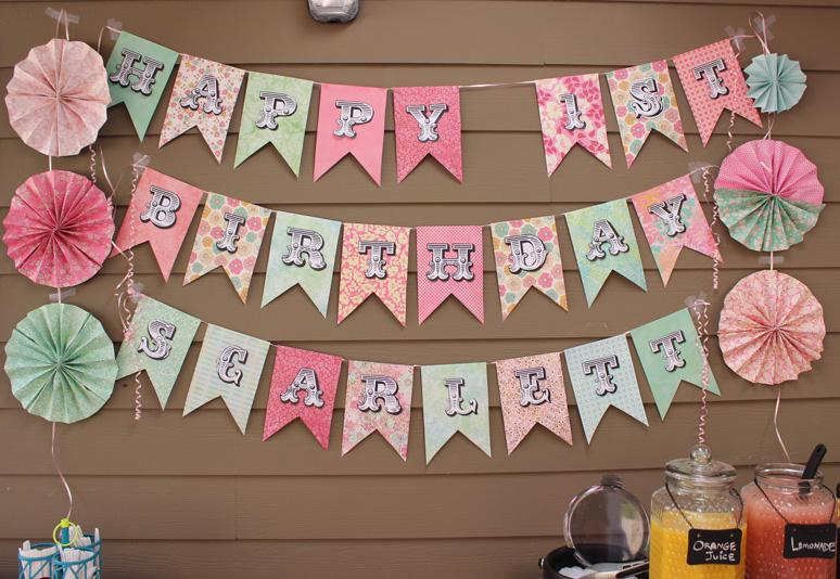 28 Scrapbooking Paper Birthday Banner Sign