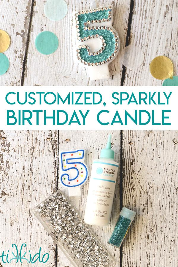 29 DIY Embellished Number Birthday Candle