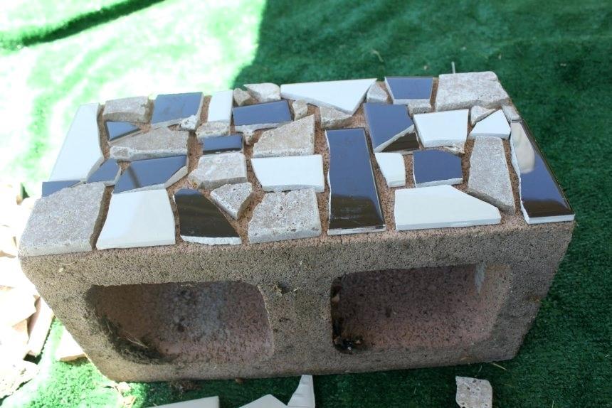 29 Mosaic Cinder Block Planter