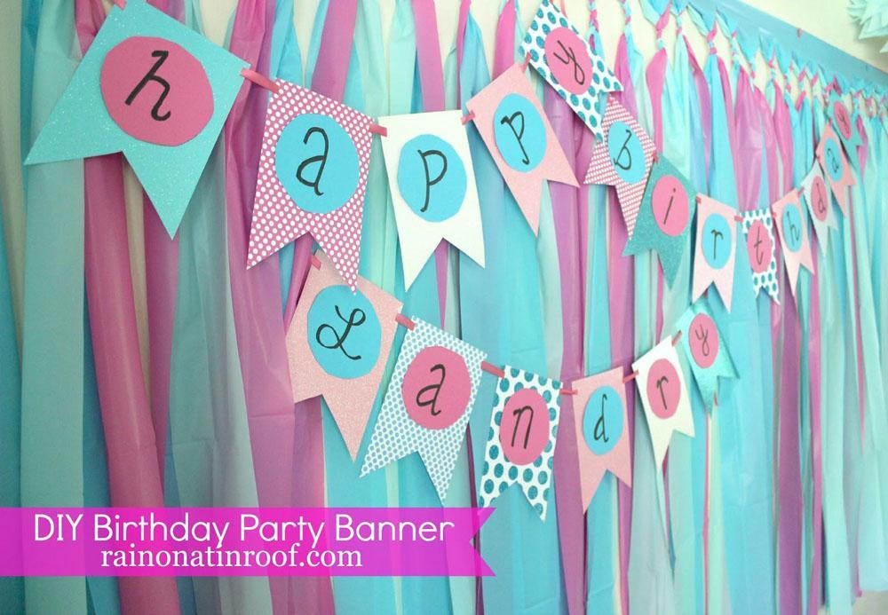 29 Pastel polka dot banner