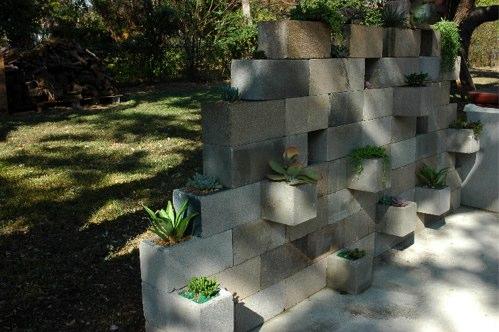 3 Cinder Block Succulent Planter