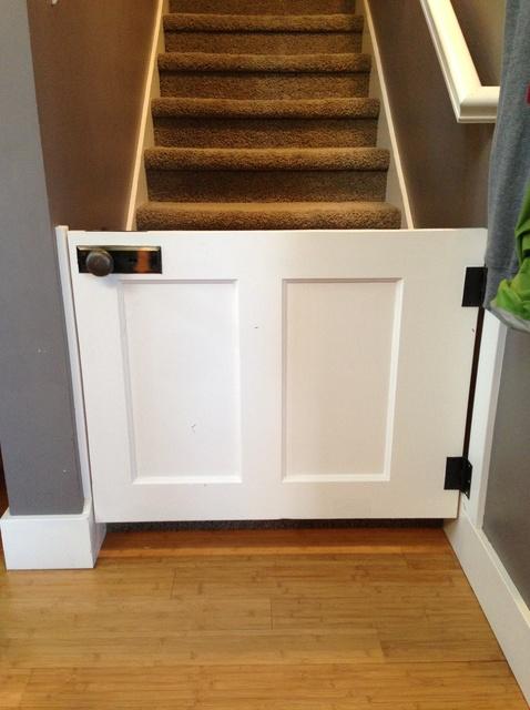 3 DIY Baby Gate From an Old Wood Door