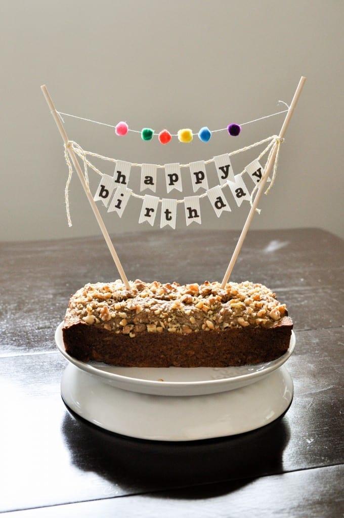 30 DIY Birthday Cake Banner with Pom-Poms