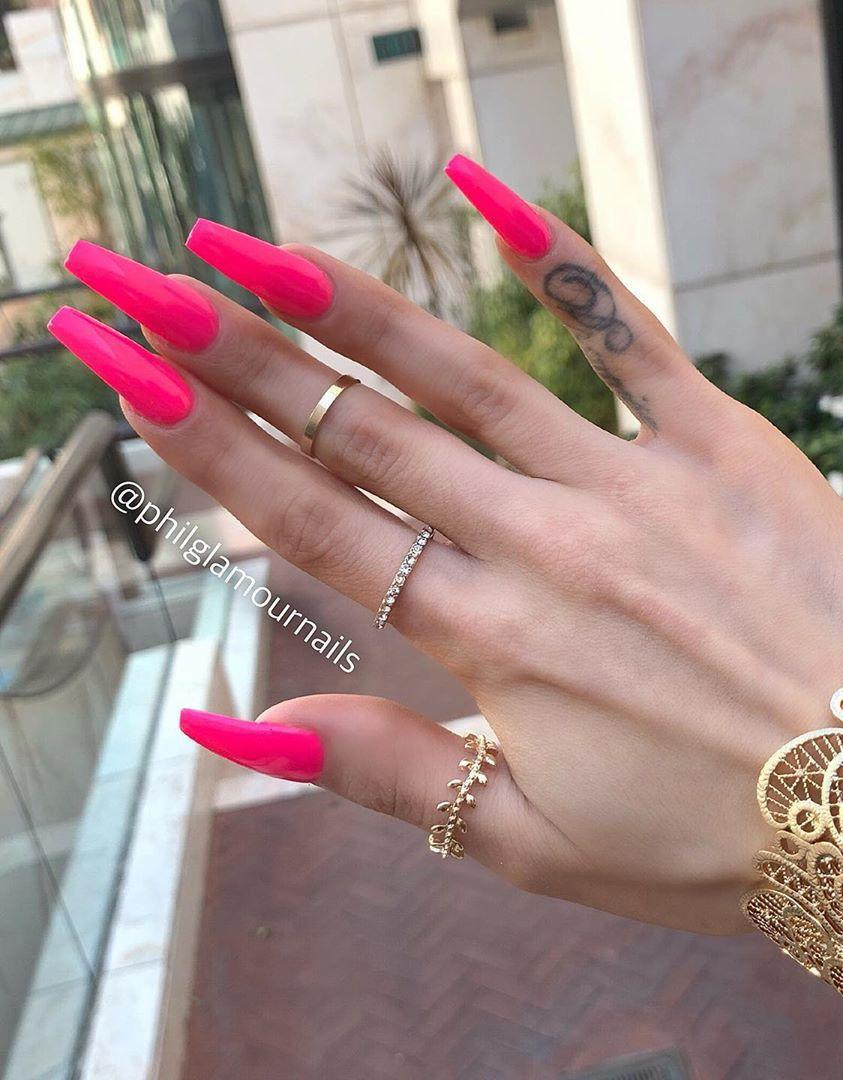 30 Pink Coffin Nail Designs