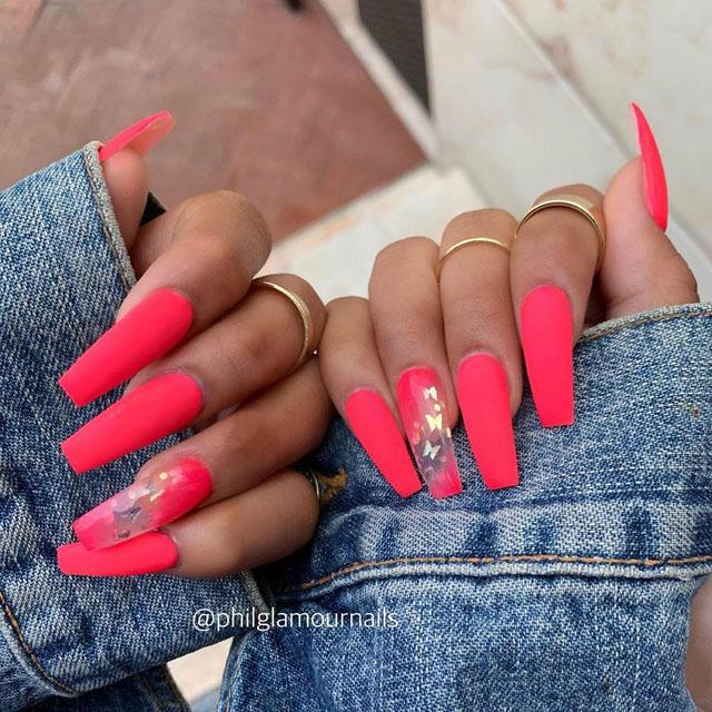 31 Pink Coffin Nail Designs