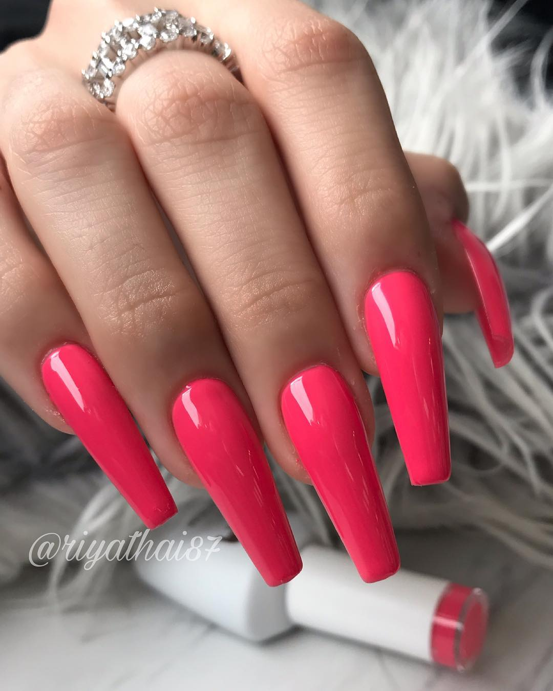34 Pink Coffin Nail Designs
