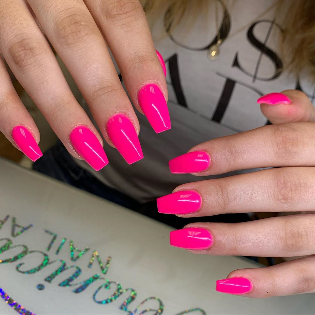 38 Pink Coffin Nail Designs