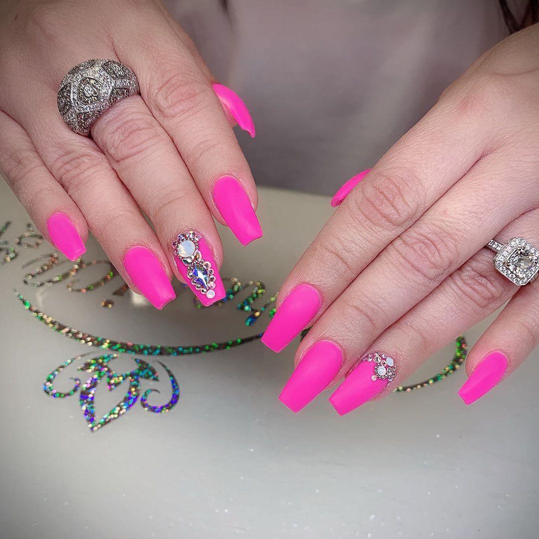 39 Pink Coffin Nail Designs