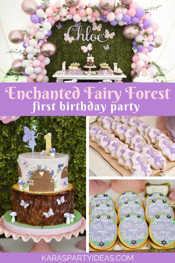 4 Enchanted Fairy Forest First Birthday Party