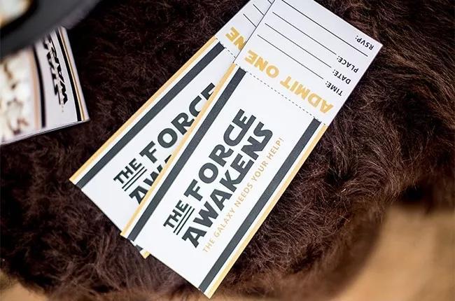 4 Star Wars Ticket Invites