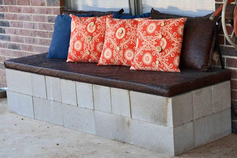 43 Outdoor Cinder Block Sofa