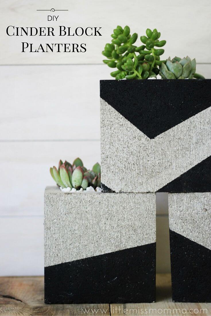47 Modern Look Cinder Block Planter