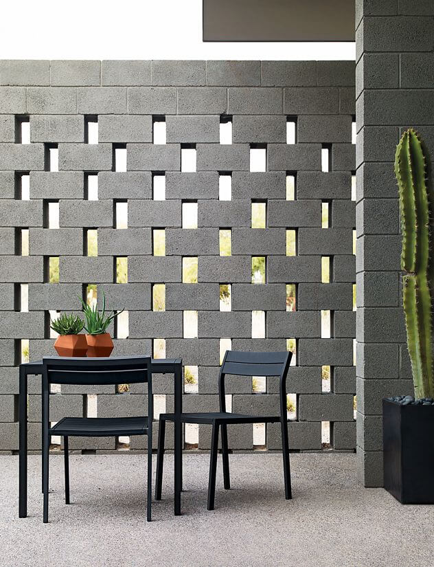 49 Zen Style Cinder Block Privacy Wall