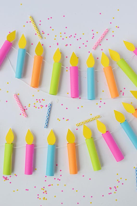 5 DIY Birthday Candle Garland