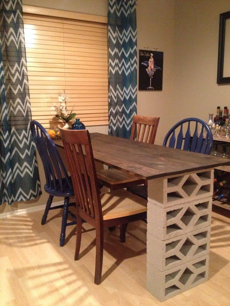 51 Charming Cinder Block Dining Table