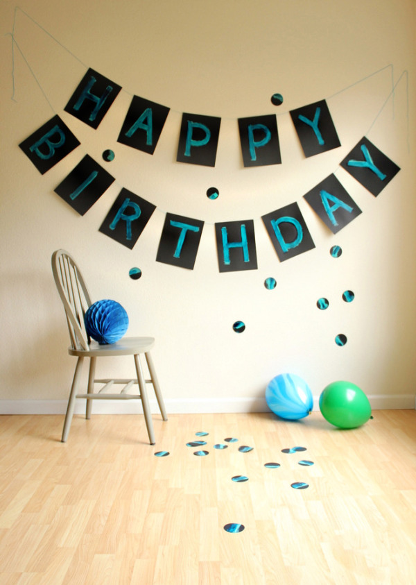 6 Giant painted birthday banner