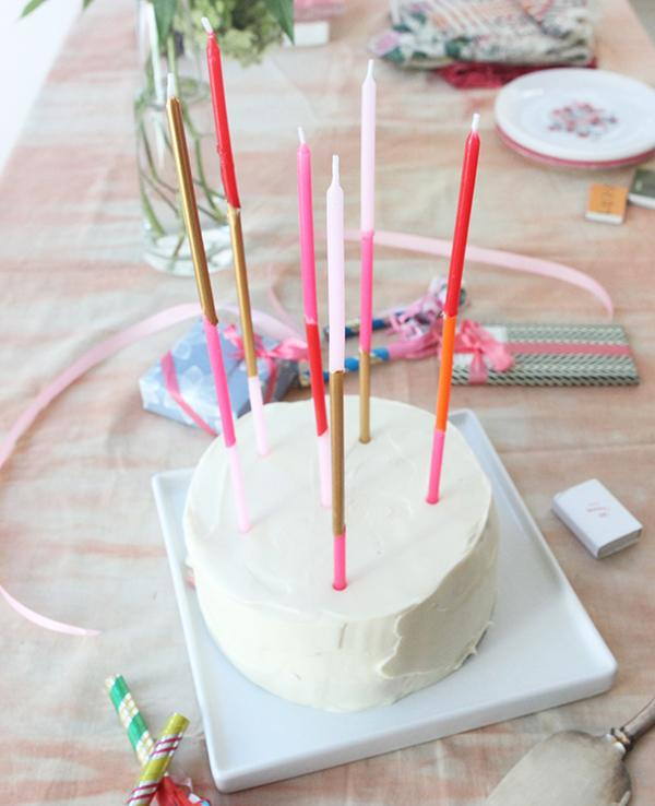 6 Super Long Taper Birthday Candles DIY