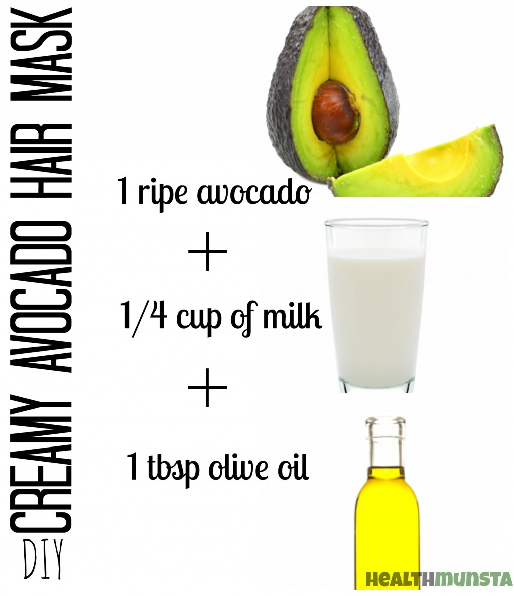 7 Creamy Homemade Avocado Hair Mask