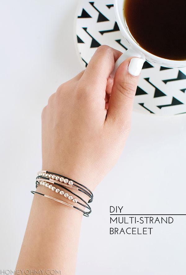 7 DIY MULTI-STRAND BRACELET