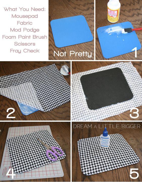 7 DIY mouse pad