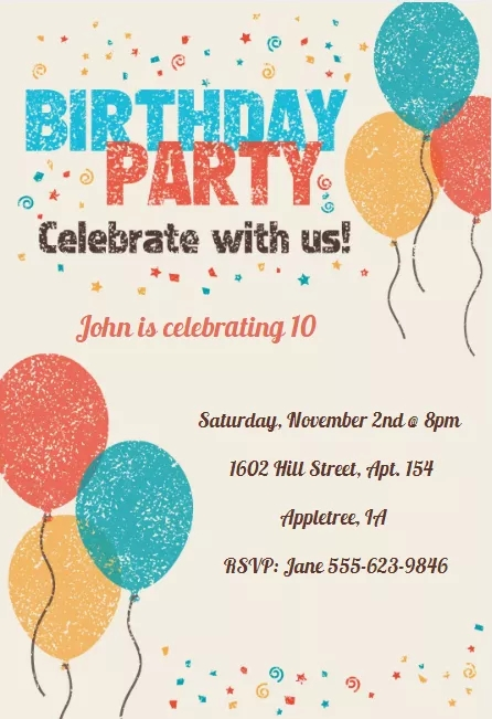 9 Celebrate With Us Birthday Party Invitation
