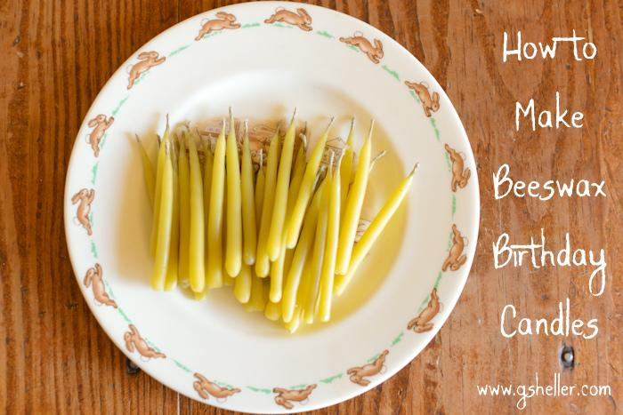 9 DIY Beeswax Birthday Candles