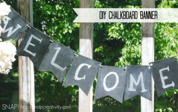 9 DIY Chalkboard Birthday Banner