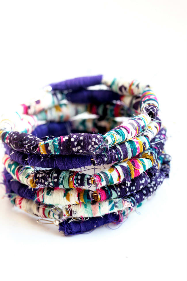 9 DIY Fabric Bead Friendship Bracelet