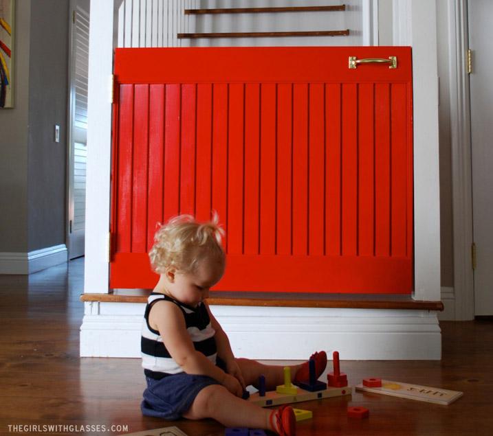 9 DIY The Little Red Door Baby Gate