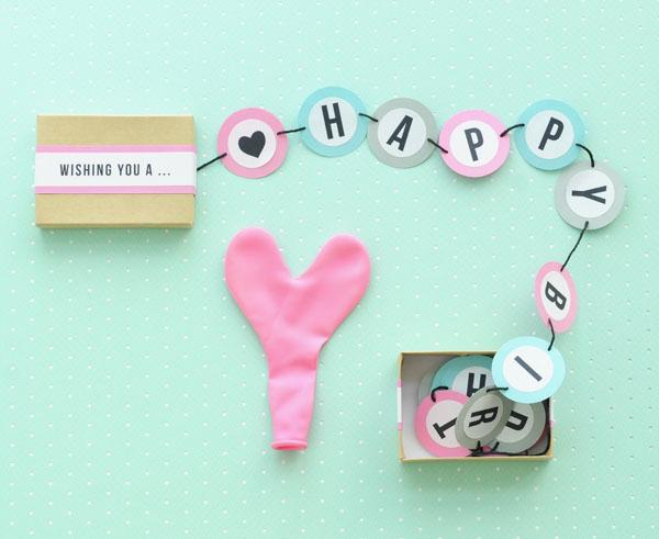 9 Happy Birthday Banner Box DIY