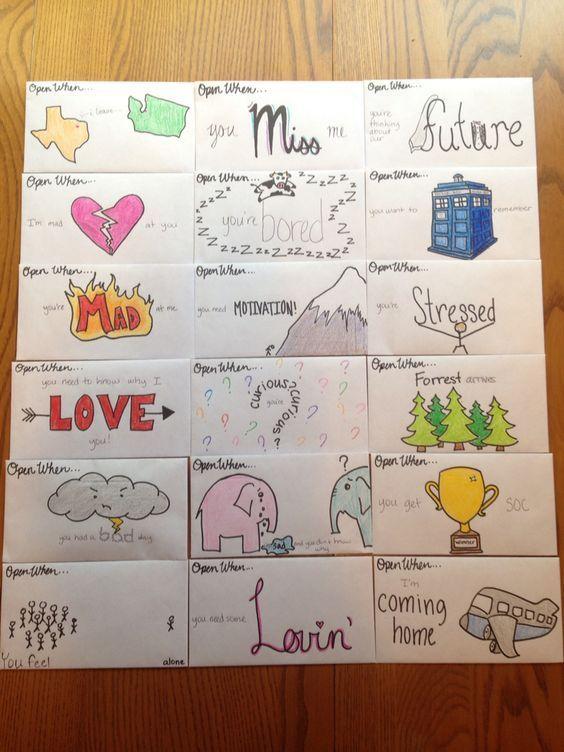 9 Open when letters to boyfriend