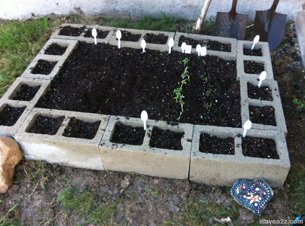 9 Raised Bed Garden Made Of Cinder Blocks