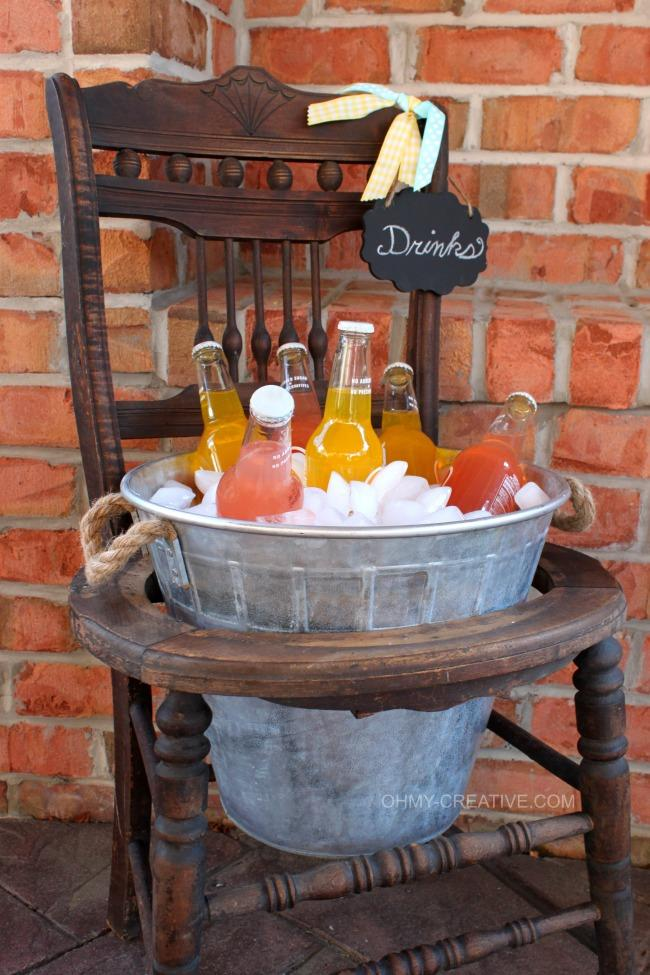 9 Vintage Chair Drink Stand