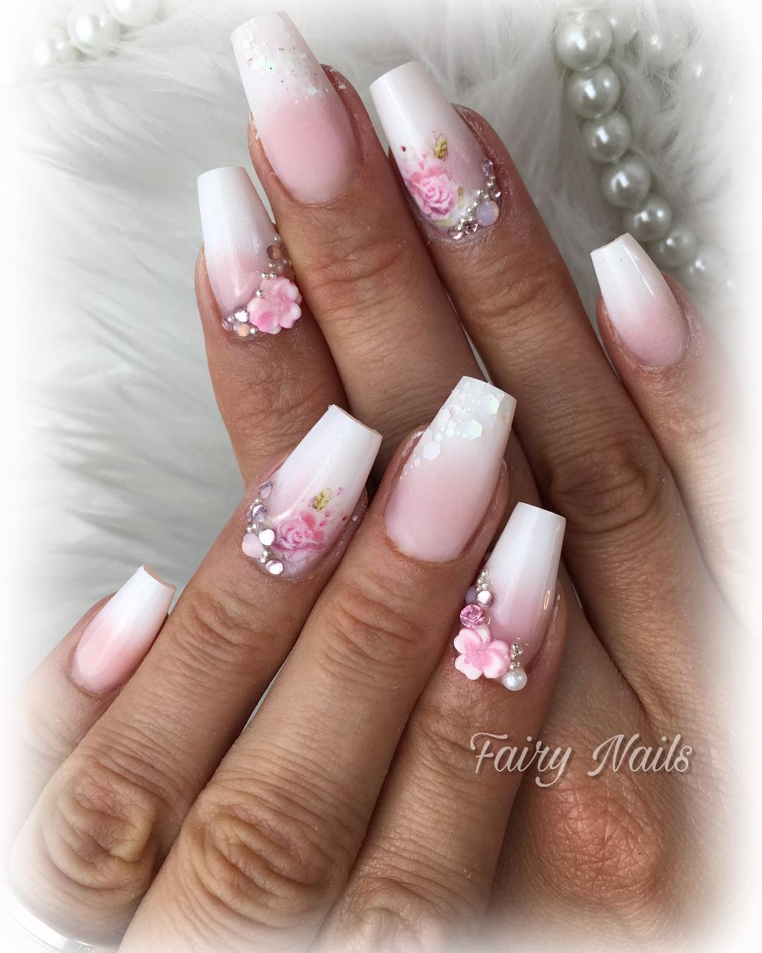 1 3D Flower Nail Art Designs