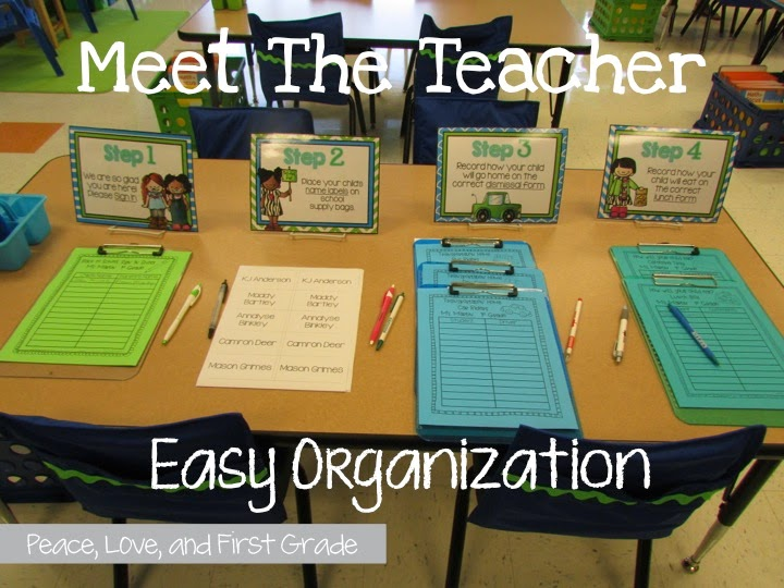 1 Meet The Teacher Easy Oranization