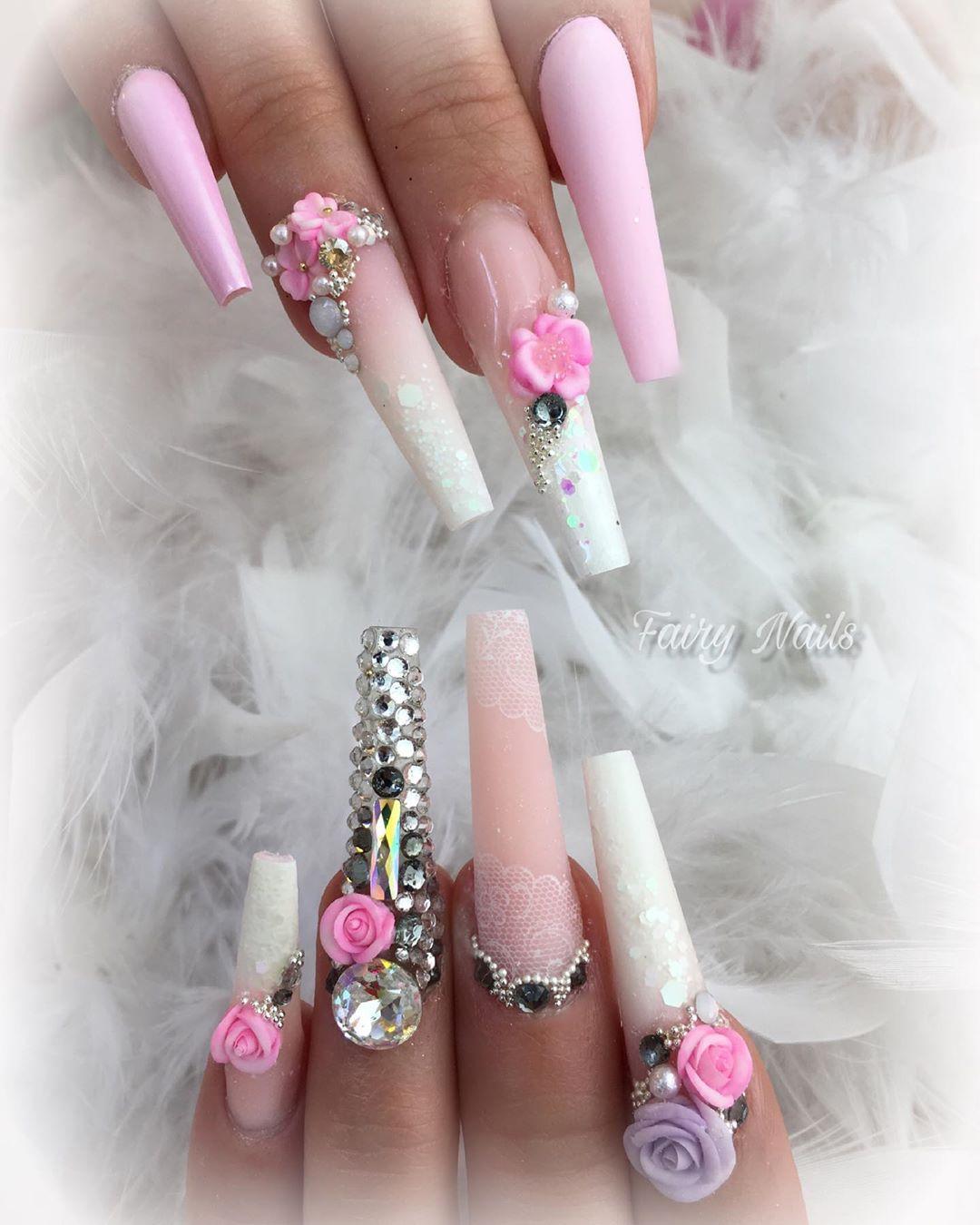10 3D Flower Nail Art Designs