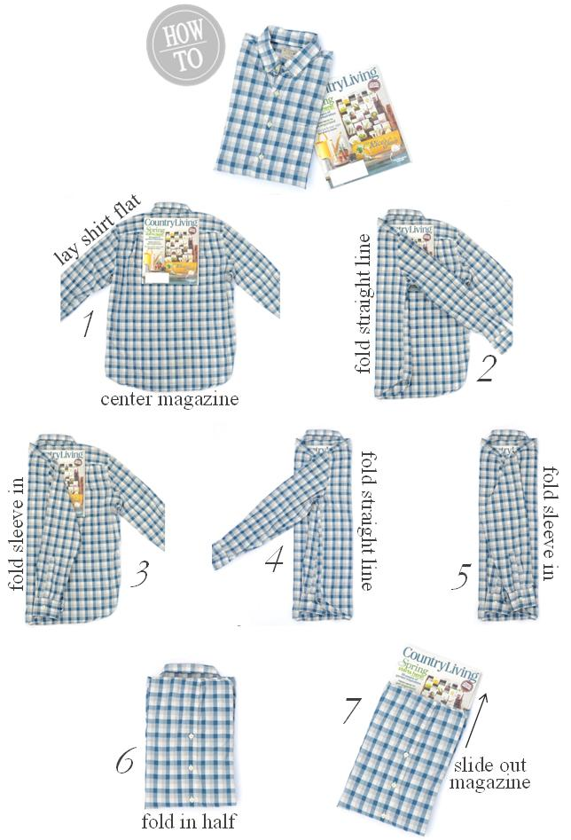 10 How to fold a shirt