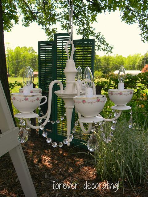 10 Teacup Chandelier