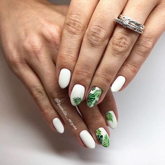 11 Leaf Nail Art Designs