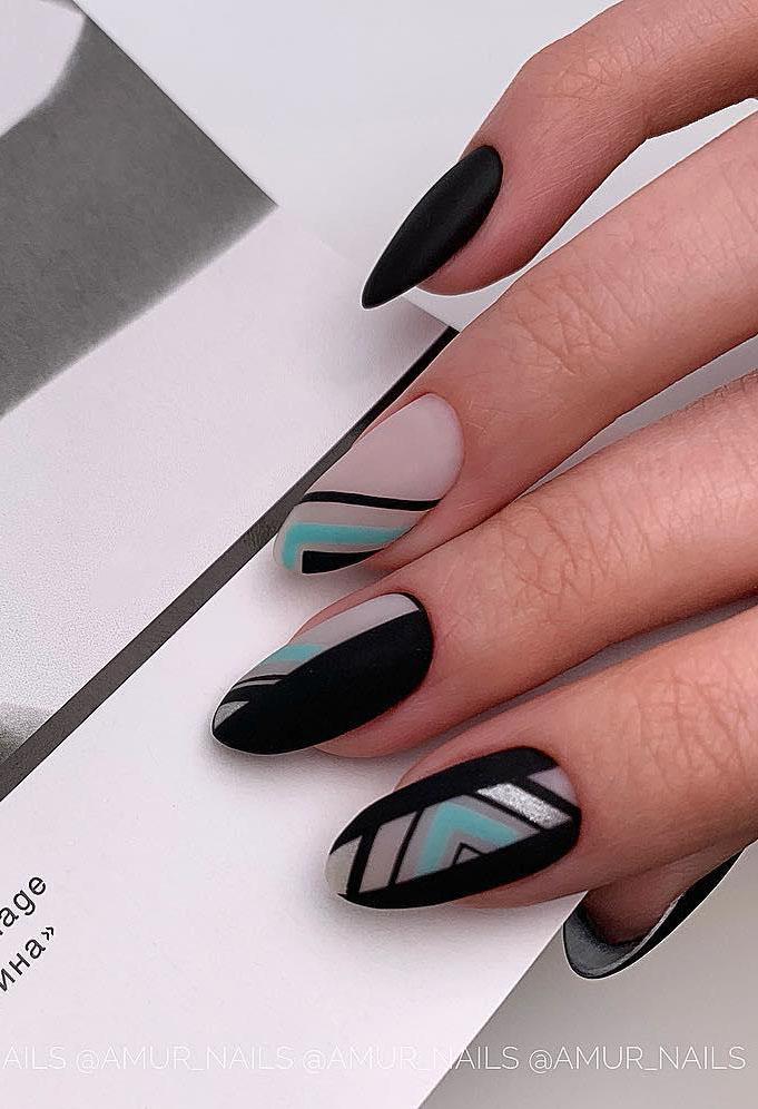 11 Matte Almond Shaped Nail Designs