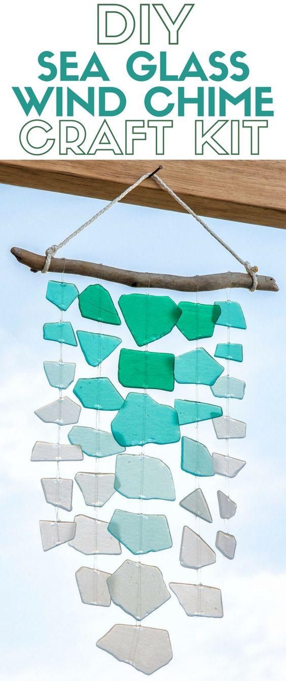 11 Sea Glass Wind Chime Craft Kit
