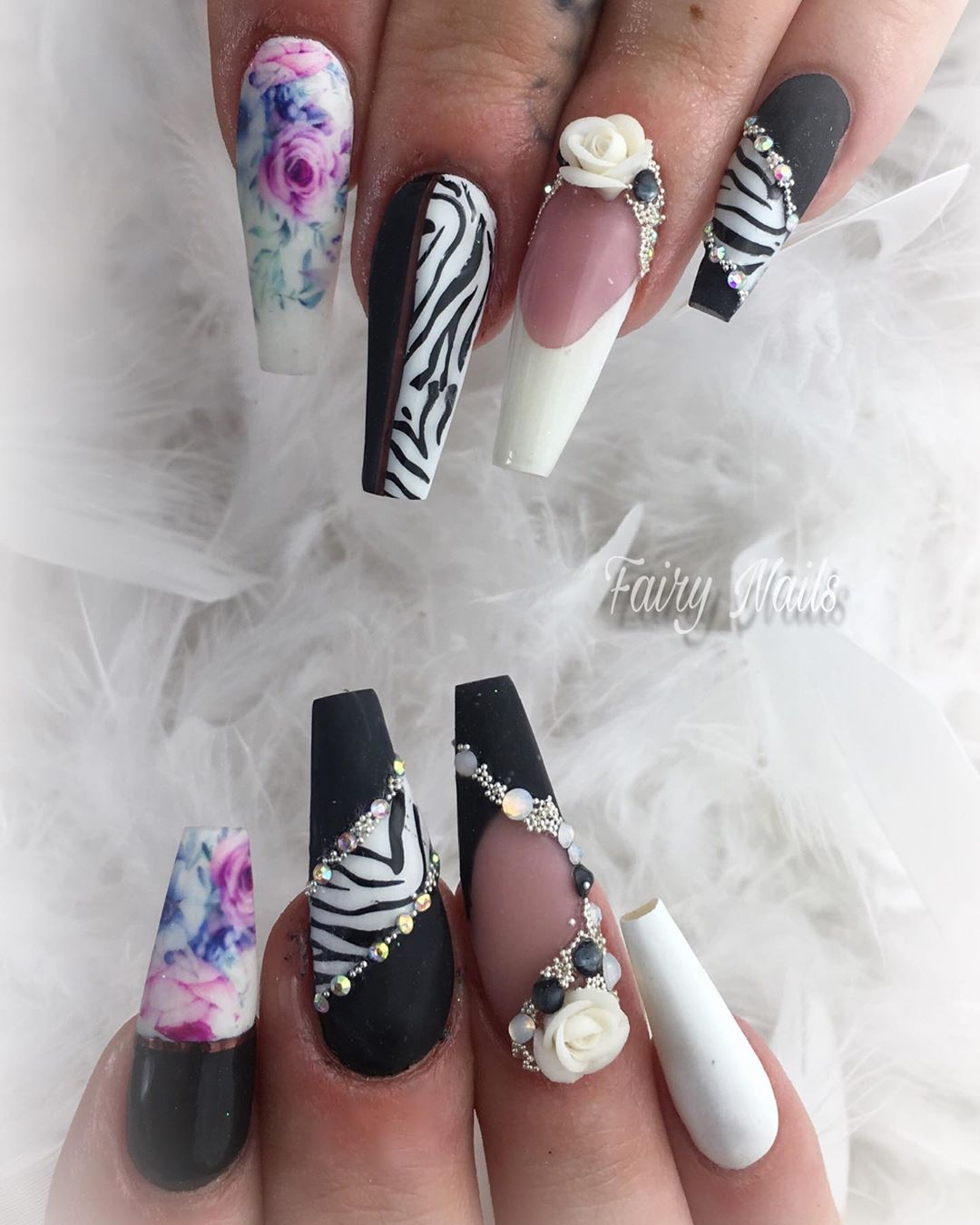 12 3D Flower Nail Art Designs