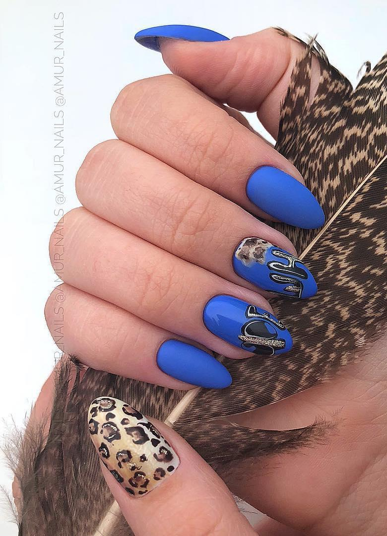 12 Matte Almond Shaped Nail Designs