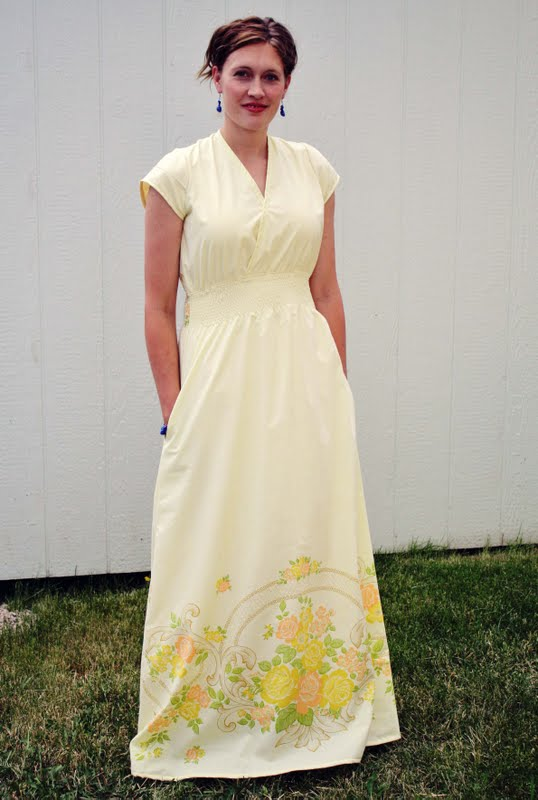 12 Vintage Sheet to Maxi Dress