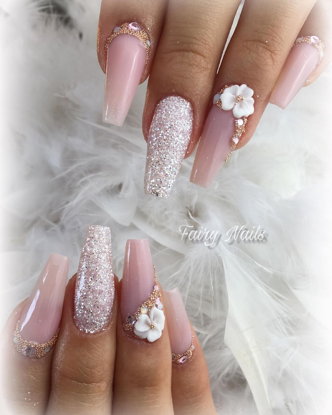 14 3D Flower Nail Art Designs